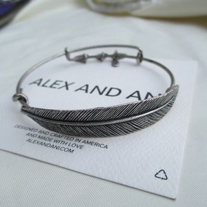 Alex and Ani QUILL FEATHER Wrap Bangle Bracelet